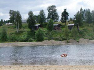 Badplats på Särna Camping
