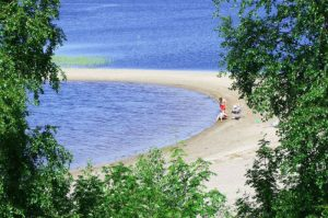 Särnas fina strand och badplats