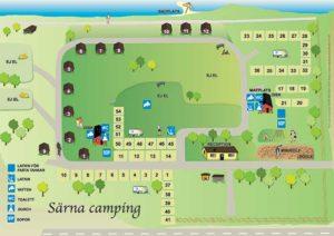 Karta över Särna Camping