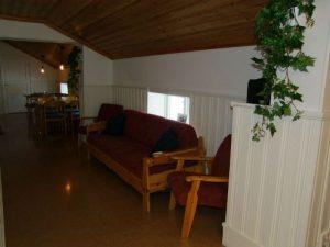 Litet sällskapsrum på Särna Camping