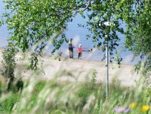 Stranden på Särna Camping