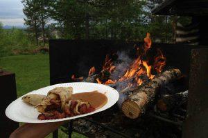 Kolbotten med eld på Särna CampingKolbotten med eld på Särna Camping