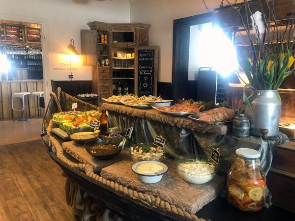 Salladsbuffen till Sill & Grillafton Lena´s Kök & Bar, Särna Camping