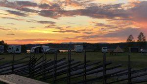 Utsikt över städjan från Särna Camping