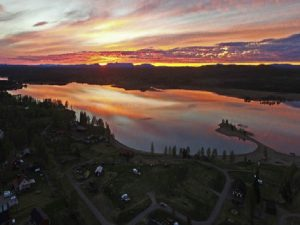 Vy över Särna Camping och Badudden