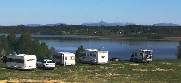 Vy över Särna Camping